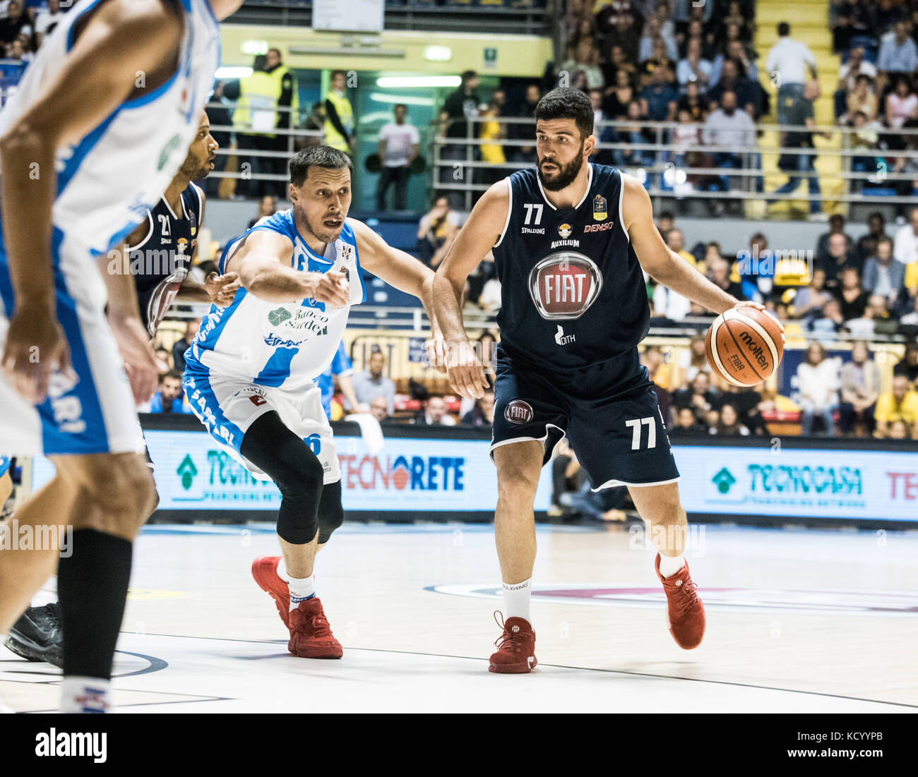 Turin, Italy. 07th Oct, 2017. Antonio Iannuzzi Turin, Italy 7th october 2017. Serie A an Basketball match Fiat Torino Stock Photo
