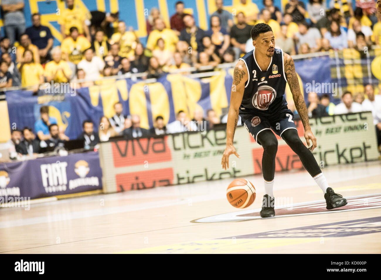 Turin, Italy. 07th Oct, 2017. Turin, Italy 7th october 2017. Diante Garret during the Serie A an Basketball match Stock Photo