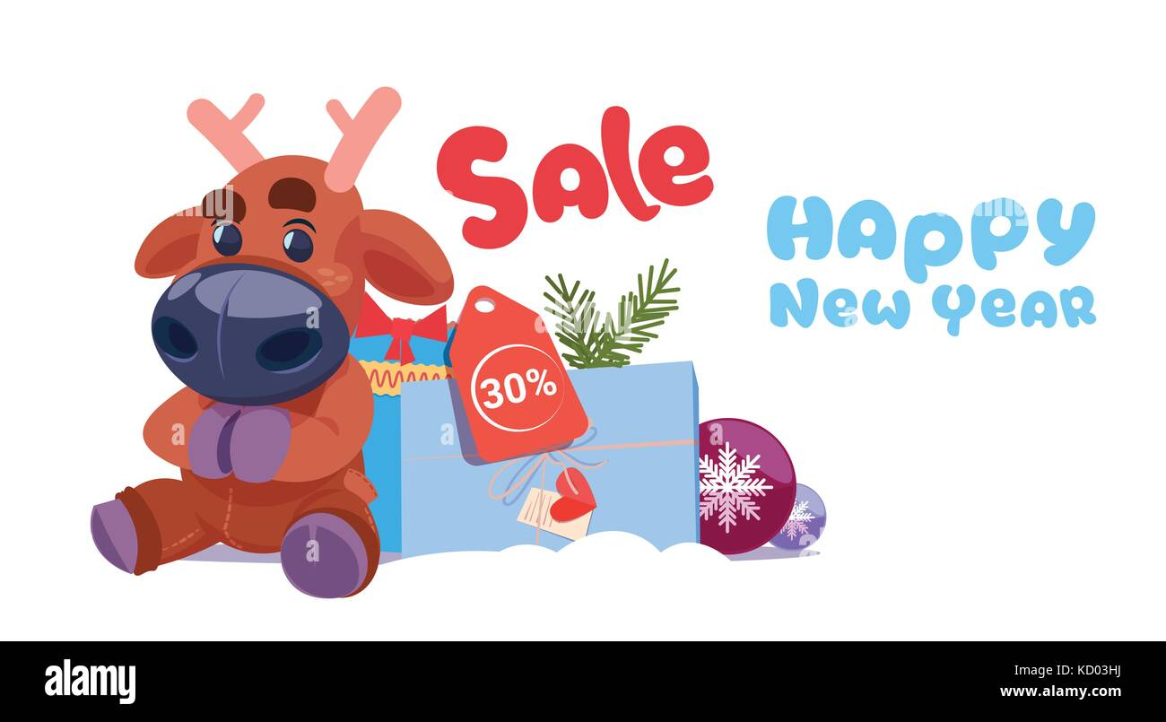 new year sale banner holiday discounts promotion label christmas shopping concept