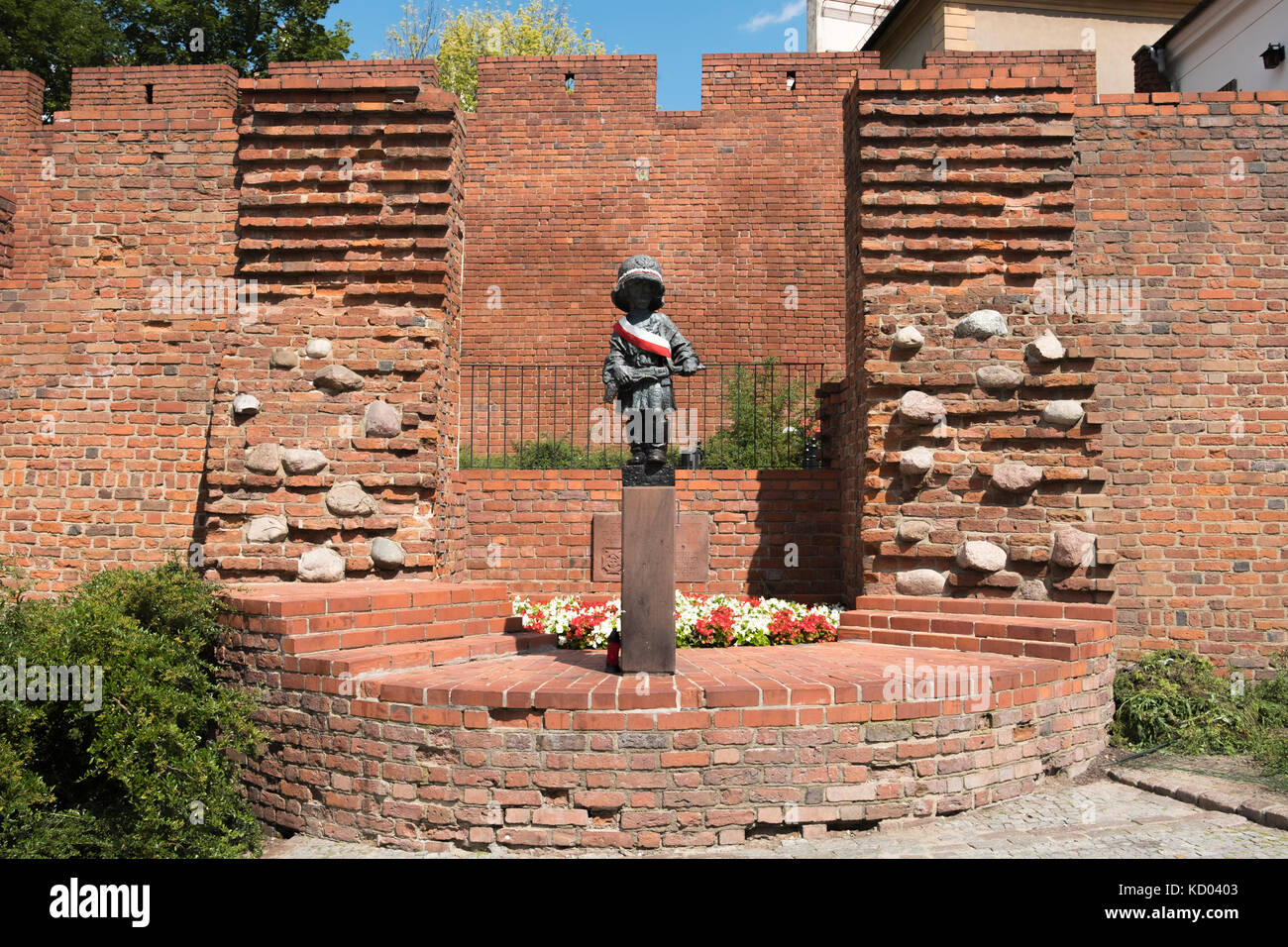 The Statue of the Little Insurgent, Warsaw, Poland. Stock Photo