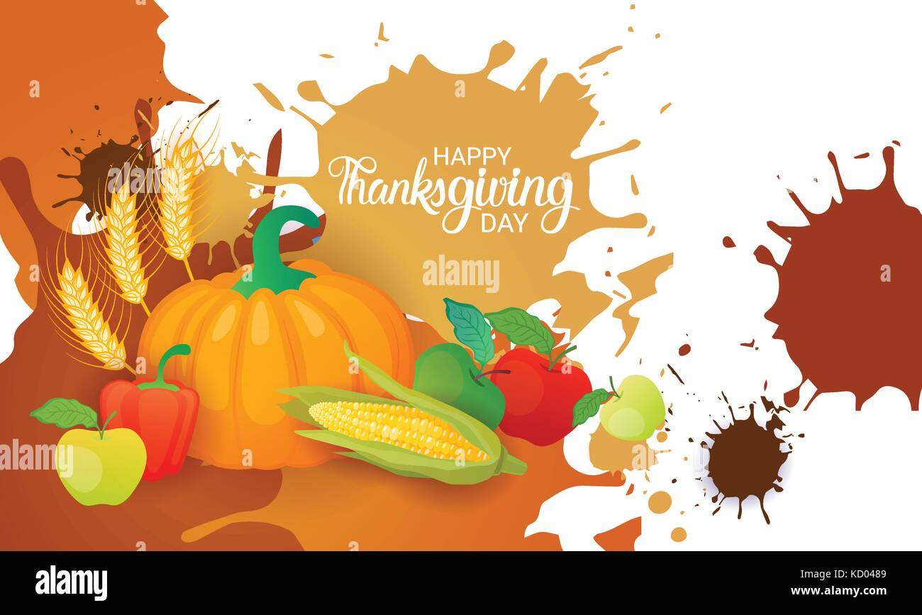 Happy thanksgiving day autumn traditional harvest holiday greeting happy thanksgiving day autumn traditional harvest holiday greeting card m4hsunfo