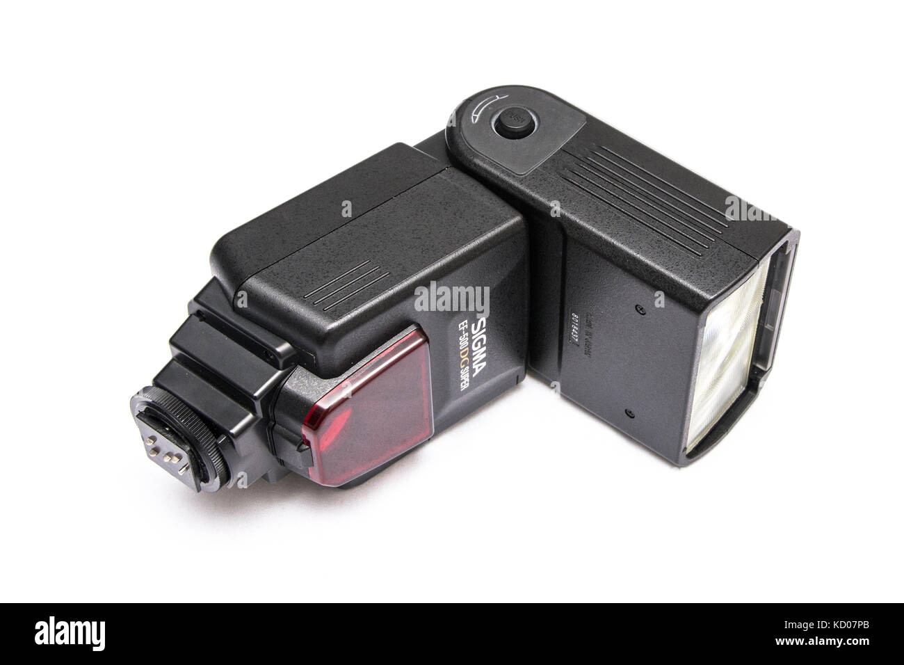 Electronic Flash Sigma EF-500 DG Super NA-iTTL. Automatic and TTL functions Stock Photo