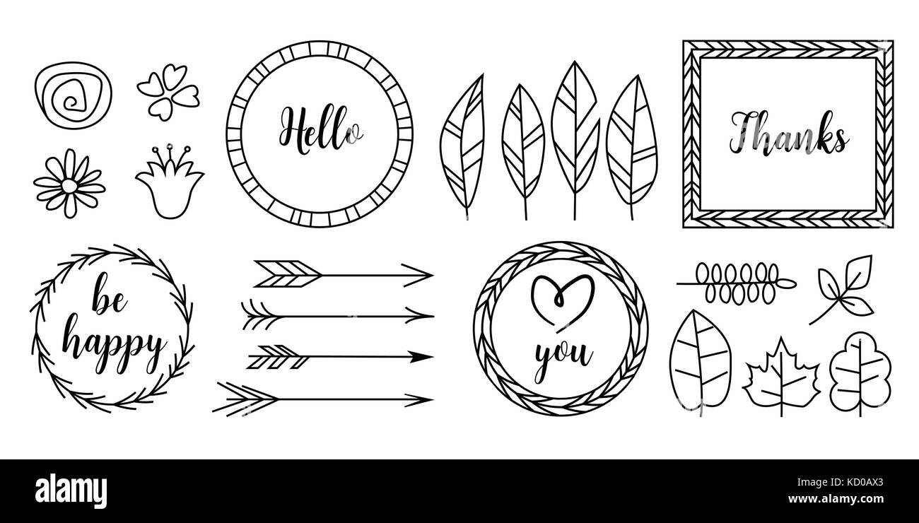 Retro Vintage Typographic Design Elements Arrows Labels Ribbons Logo Symbols Calligraphy Swirls Ornaments