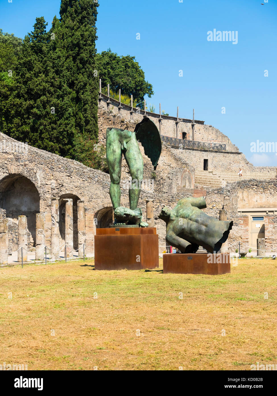 Temple ruins of Pompeii, Naples, Campania, Italy - Stock Image