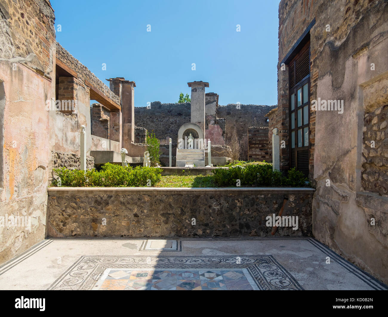 Ruins of Pompeii, Naples, Campania, Italy - Stock Image