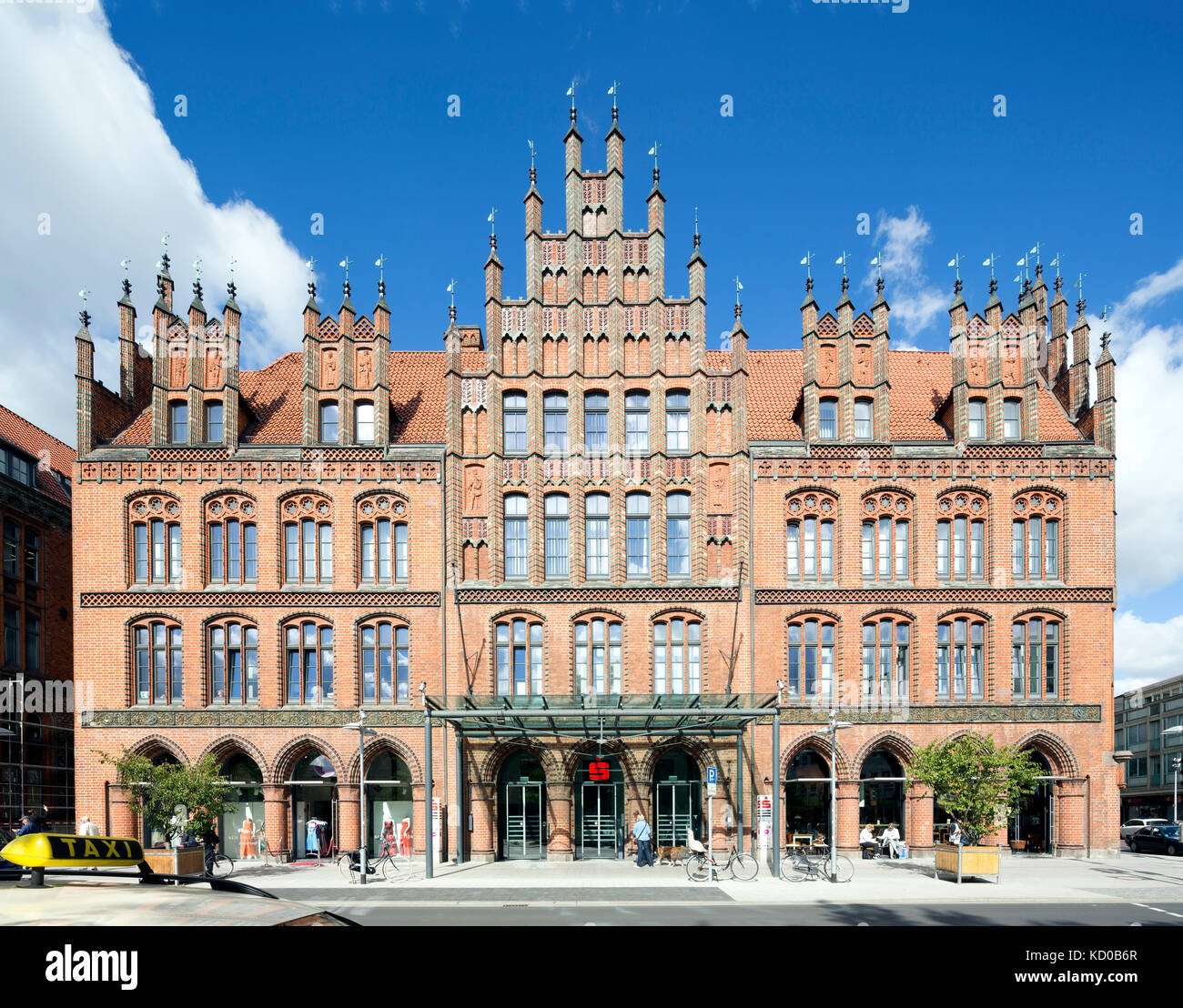 Old town hall, north German brick Gothic, Hanover, Lower Saxony, Germany - Stock Image