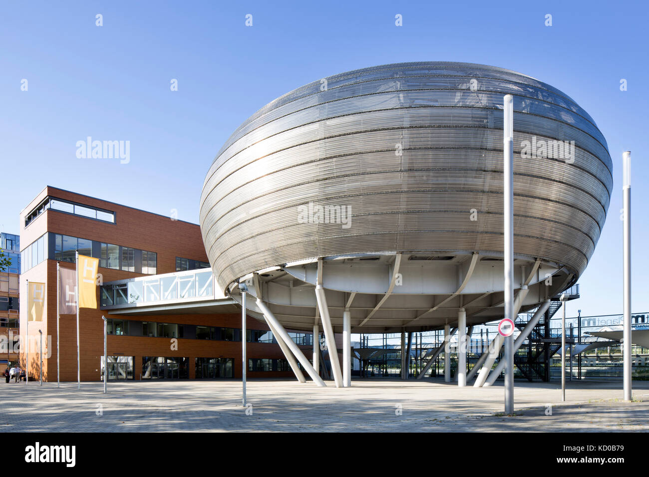 Planet M of Bertelsmann AG at the World Expo 2000, today used by Hannover University of Applied Sciences, Hanover, - Stock Image