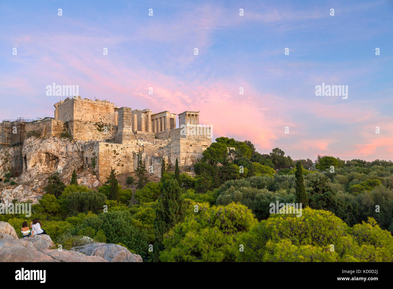 View of the Acropolis, in Athens, Greece. - Stock Image