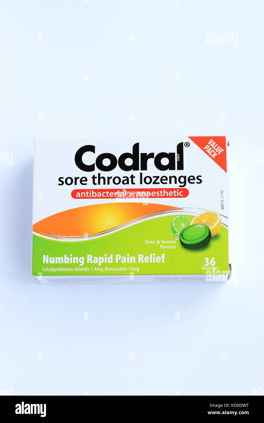 Codral Sore Throat lozenges - Stock Image