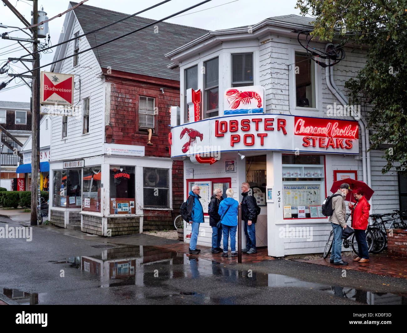 Lobster Pot Fish Restaurant in Provincetown MA USA - Stock Image