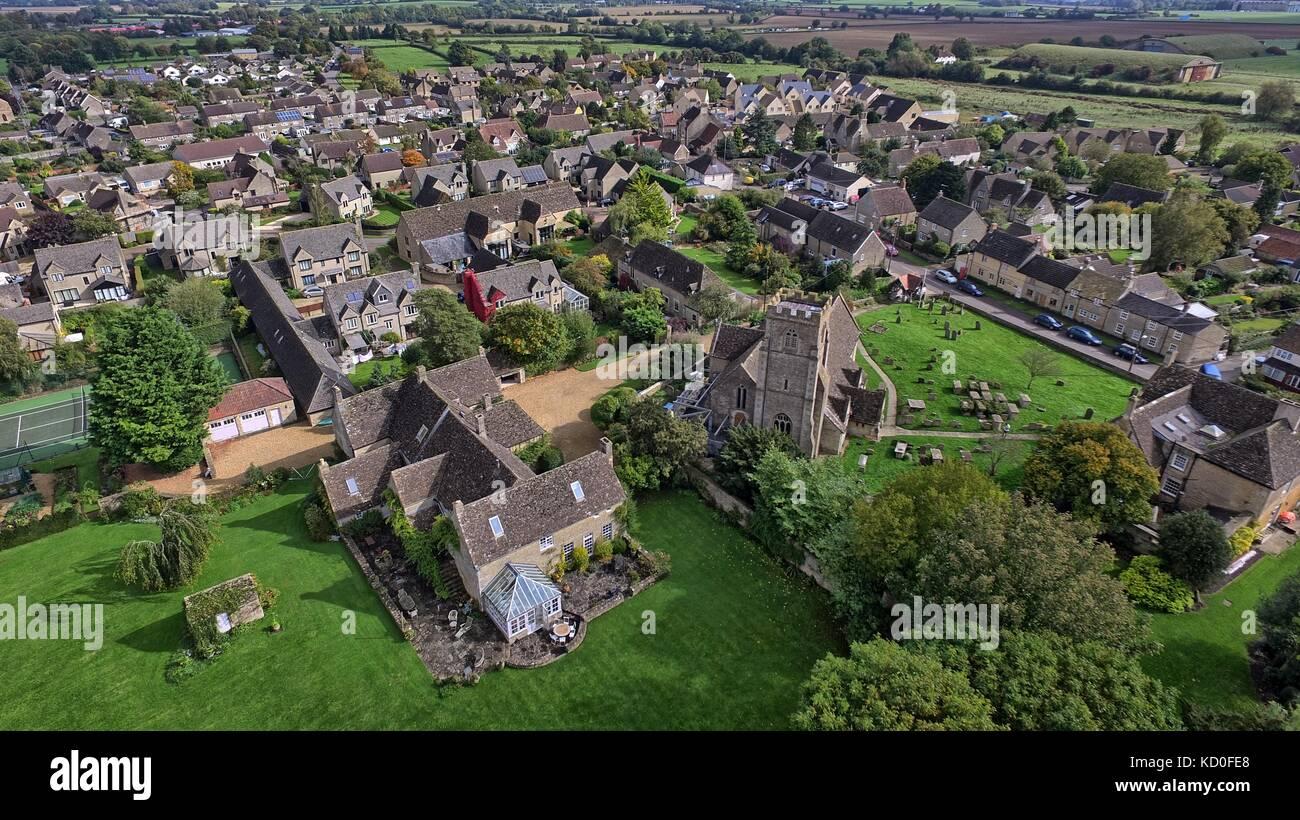 Aerial view of Hullavington Stock Photo