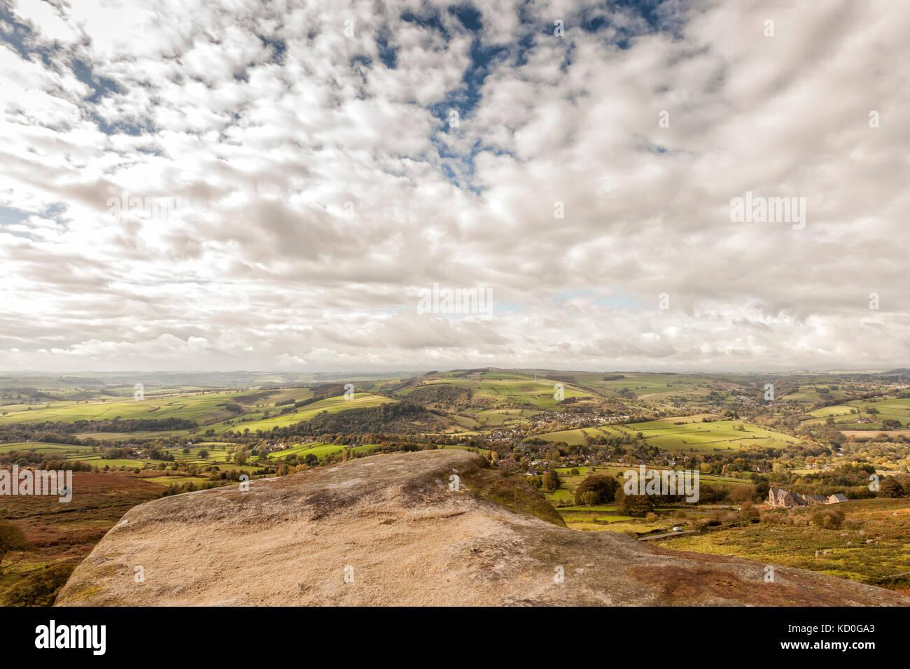 Curbar Edge, Peak District National Park,England. October 2017 - Stock Image