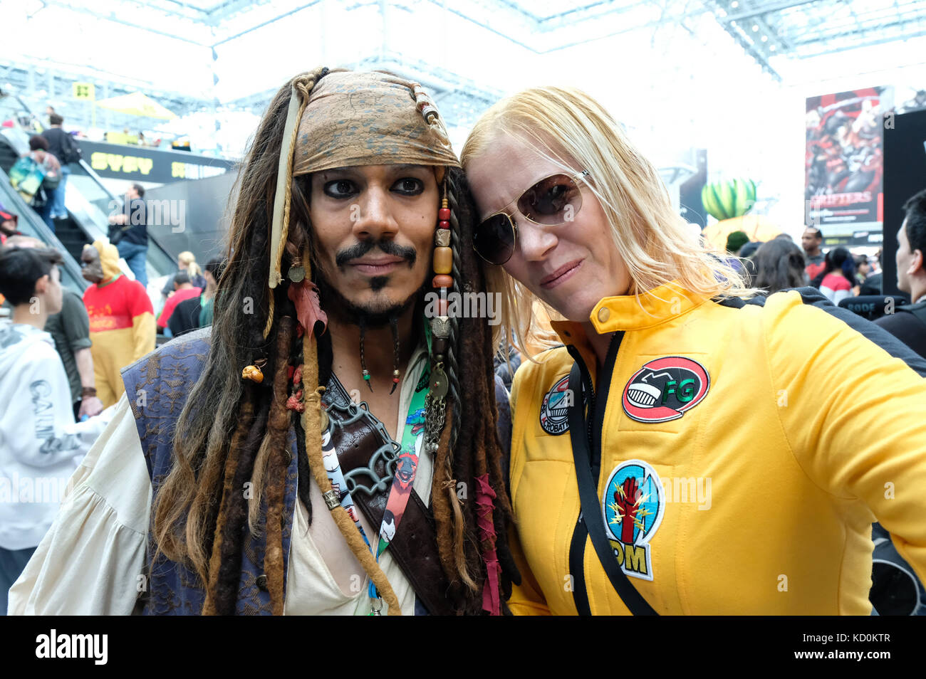 New York Usa 7th October 2017 Costumes At Comic Con New York City Stock Photo Alamy