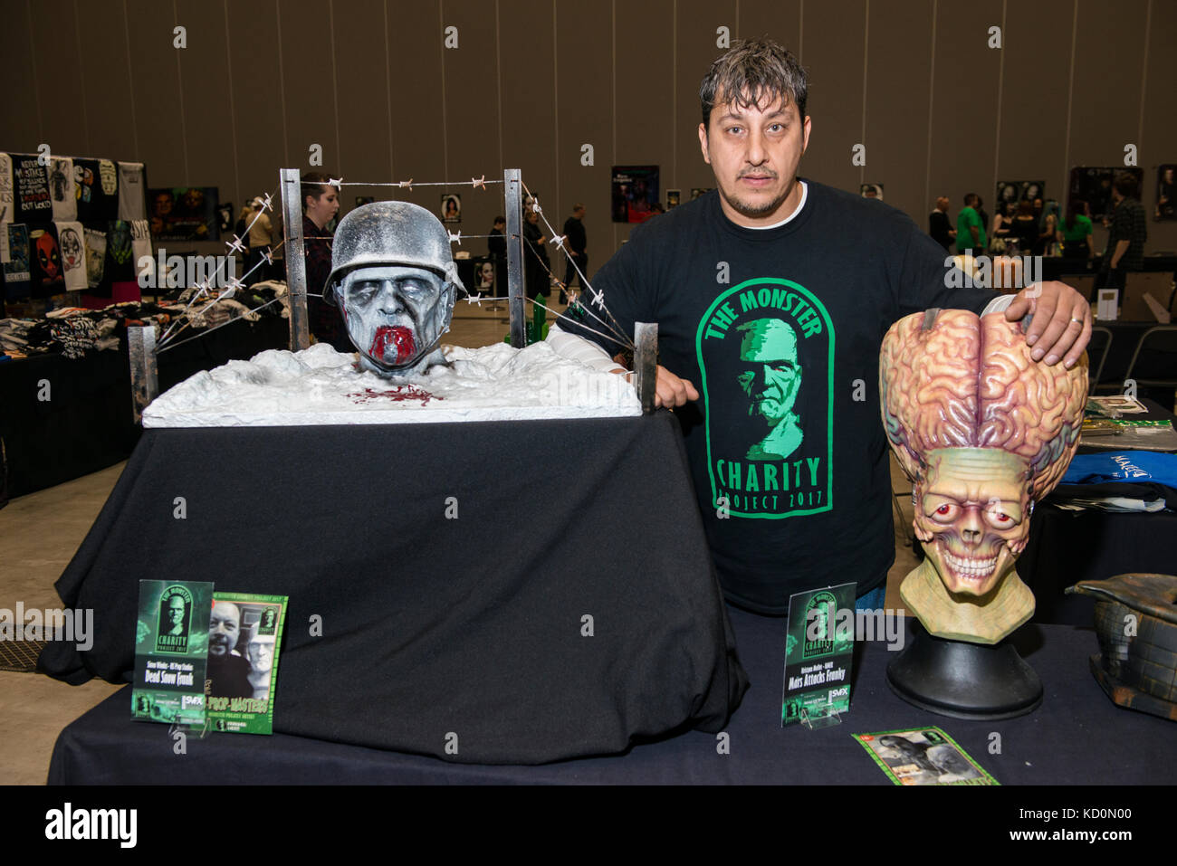 Liverpool, England; 8th. October 2017: Liverpool Horror Convention - A Monstrous Cornucopia of Costumes; Cakes; - Stock Image