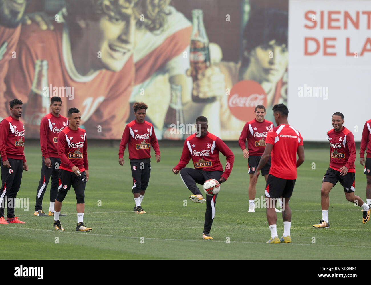 6dd9a7037 Peru s national soccer team players participate in a training session at  the National Sports Villa in Lima