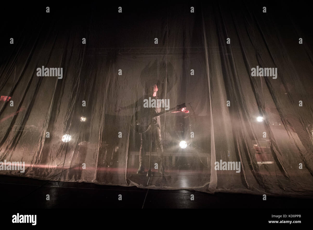 Lodz, Poland. 07th Oct, 2017. Me And That Man colaboration Nergal, John Porter, Matteo Bassoli and Lukas Kumanski - Stock Image