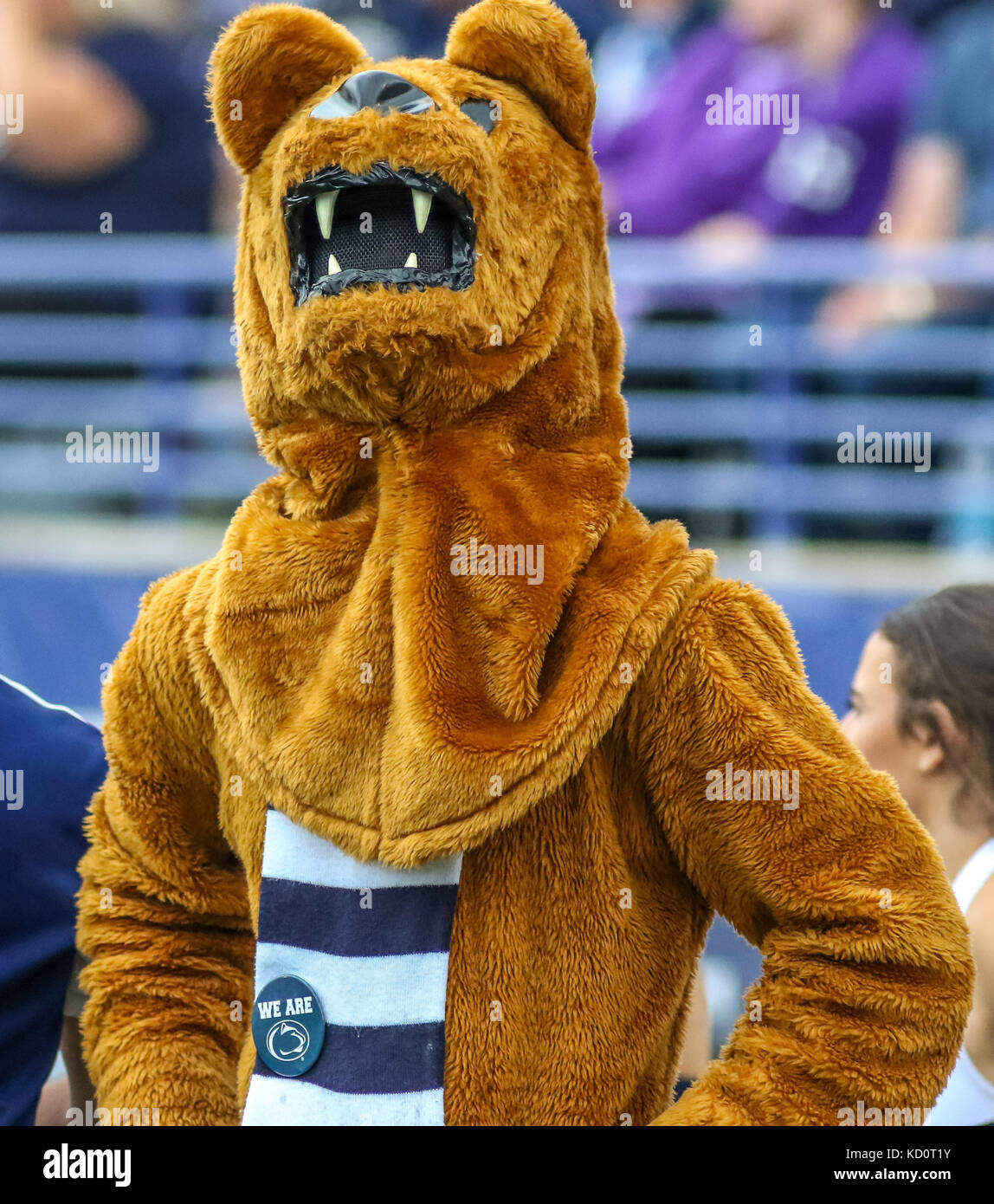 Saturday October 7th - The Penn State mascot on the sidelines during NCAA football game action between the Penn Stock Photo