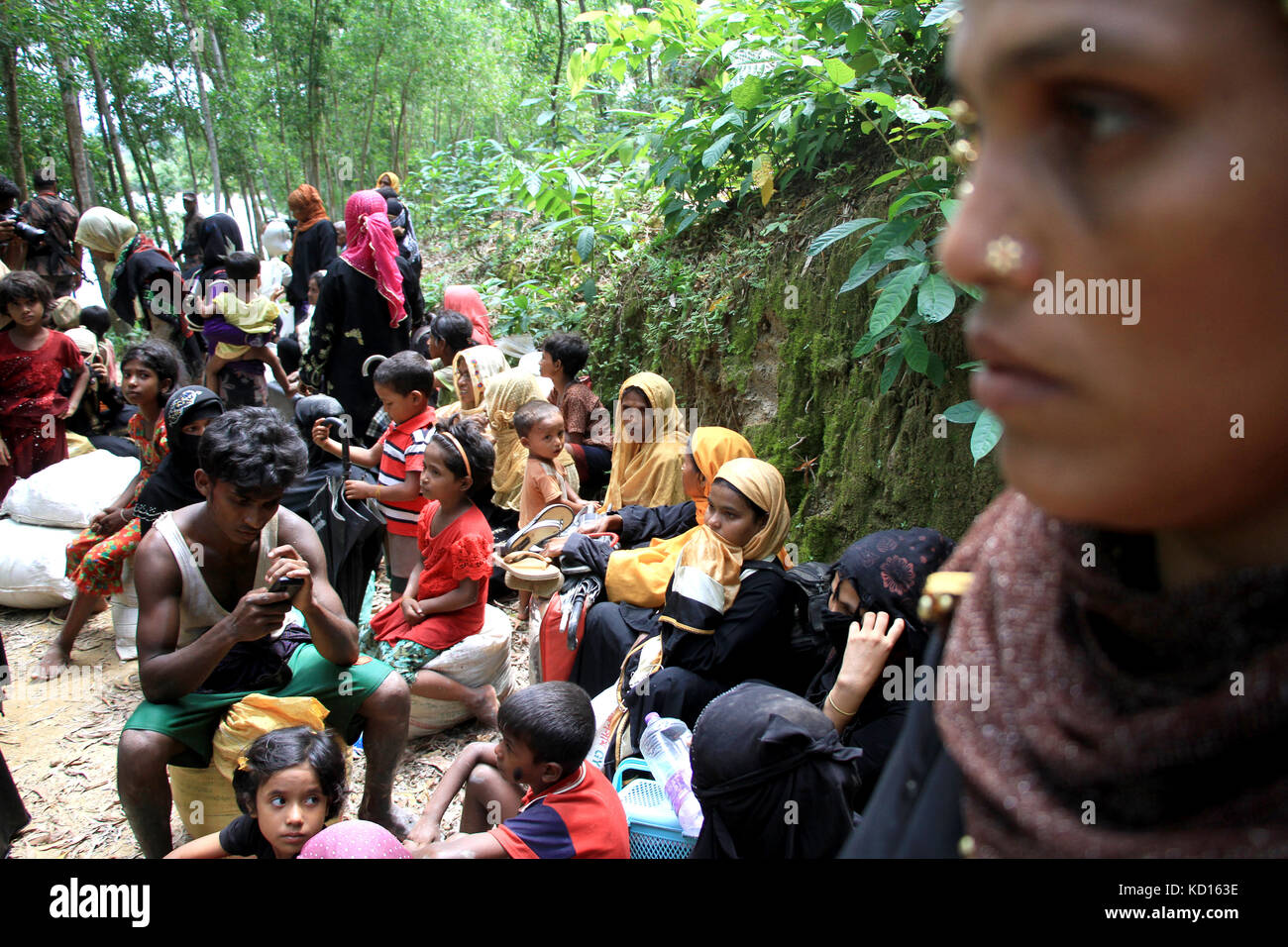 Bangladesh. Myanmar's Rohingya refugees entered in Cox's Bazar, Bangladesh. © Rehman Asad/Alamy Stock Photo - Stock Image