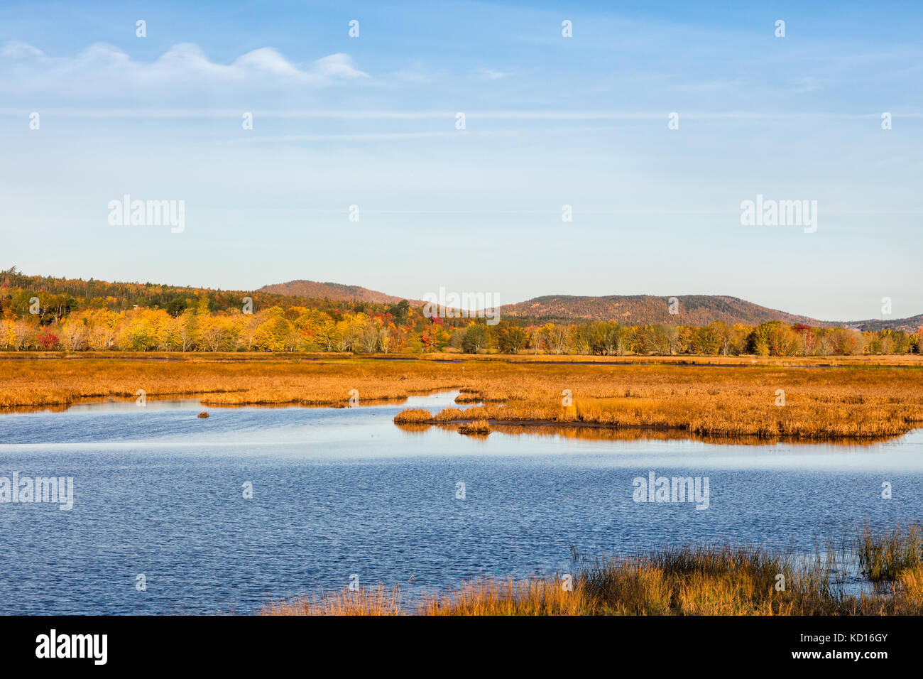 Nerepis River, Westfield, Kings County, New Brunswick, Canada Stock Photo