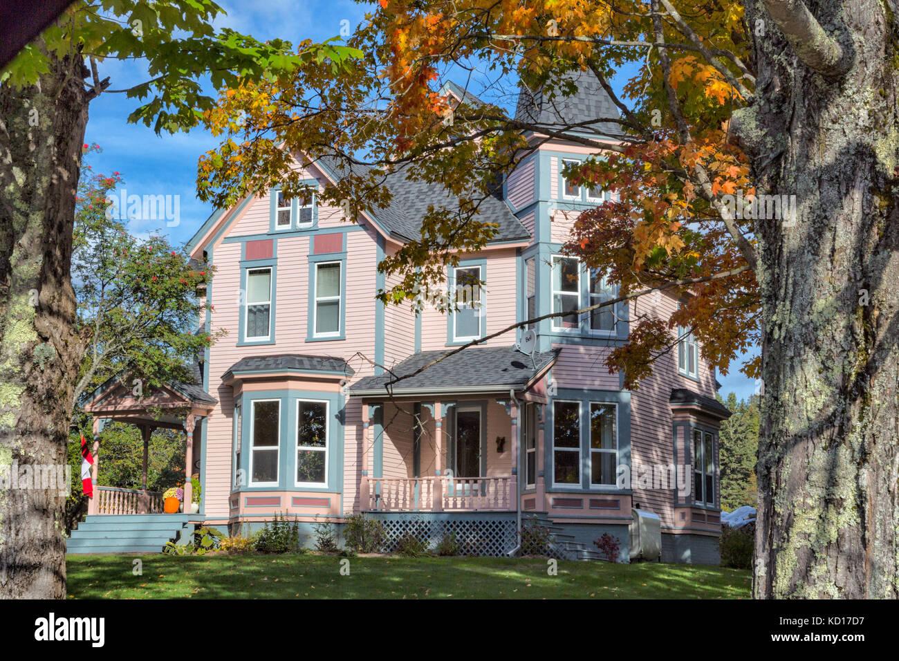Inn, St. Martins, New Brunswick, Canada - Stock Image