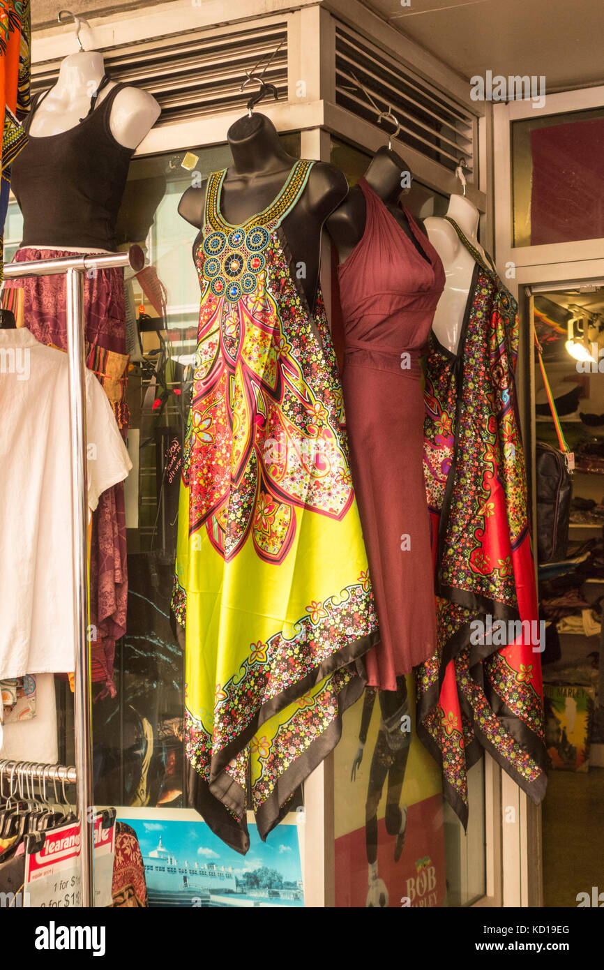 Colourful Dresses Hanging Outside Indian Fashion Store On Baldwin St Stock Photo Alamy
