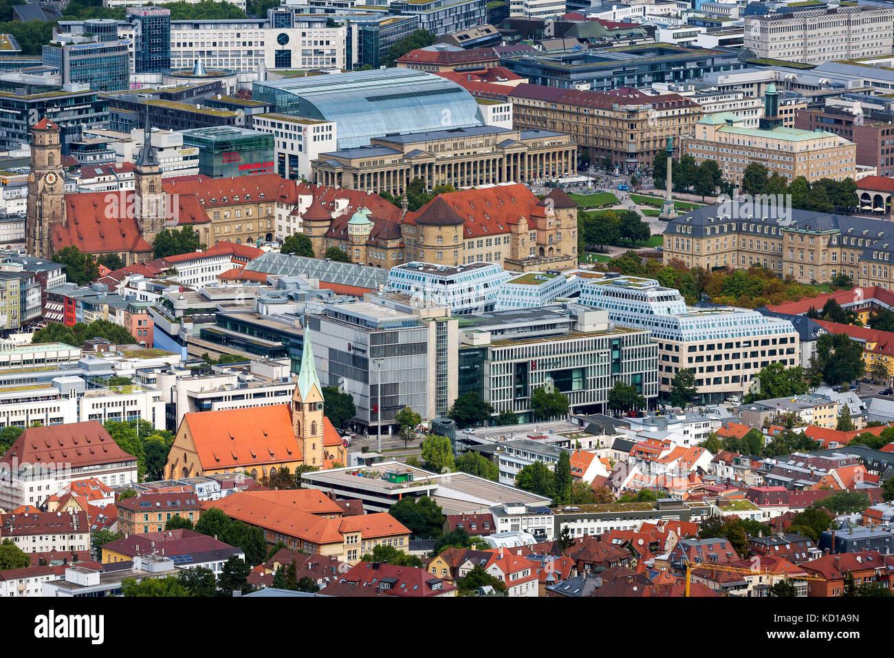 Cityscape of Stuttgart, Baden-Wuerttemberg. - Stock Image