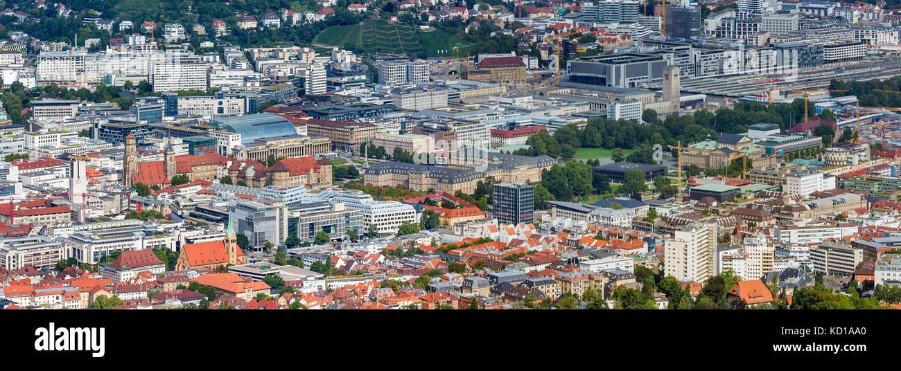Cityscape of Stuttgart, Germany, Baden-Wuerttemberg. - Stock Image