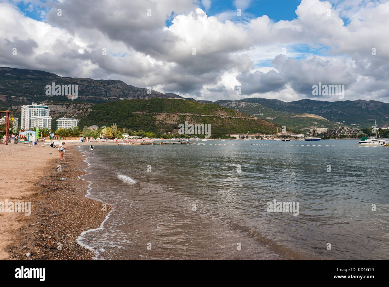 Budva Coastline, Budva, Montenegro Stock Photo