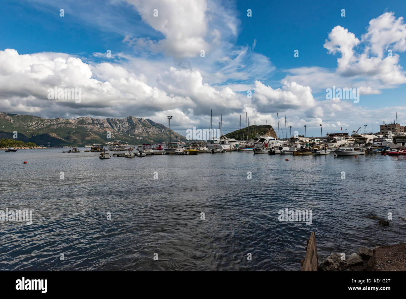 Budva Coastline, Budva, Montenegro Stock Photo
