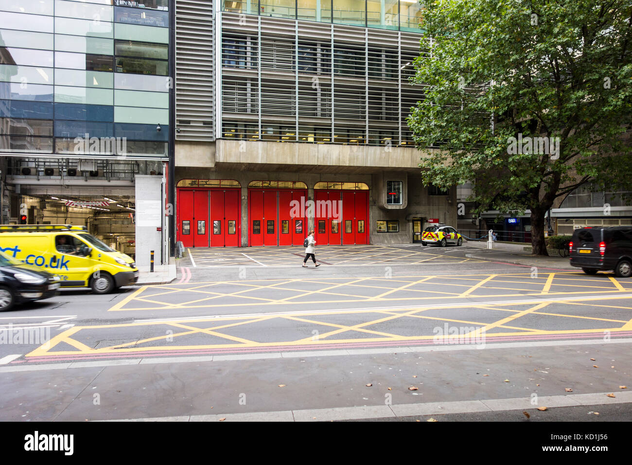 Exterior of Dowgate Fire Station, Upper Thames Street, City of London - Stock Image