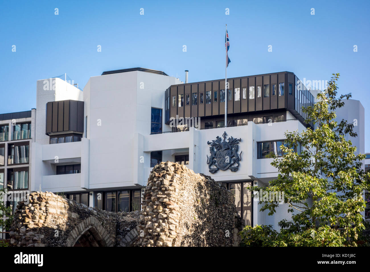 Building exterior of Salters Hall, 4 Fore Street, by architect Sir Basil Spence, City of London - Stock Image