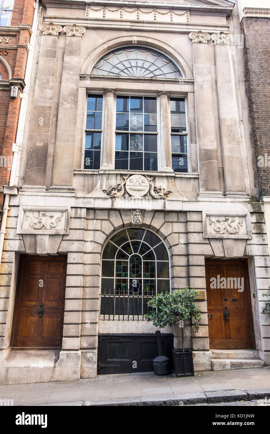 Watermen's Hall - Georgian Hall, St Mary at Hill, City of London, UK. William Blackburn - Stock Image