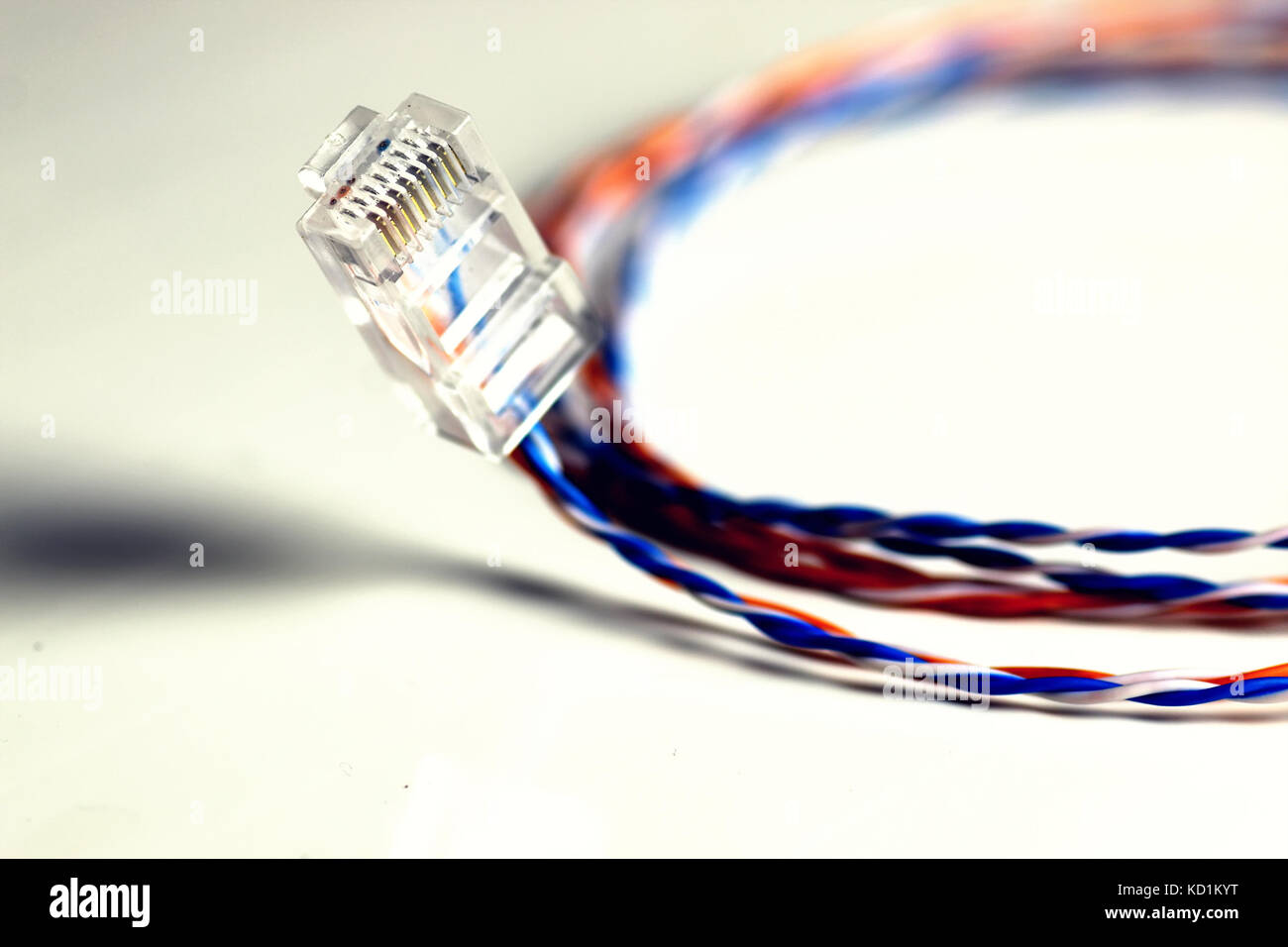 Plug Wire Color Lan Stock Photos Images Wiring Alamy