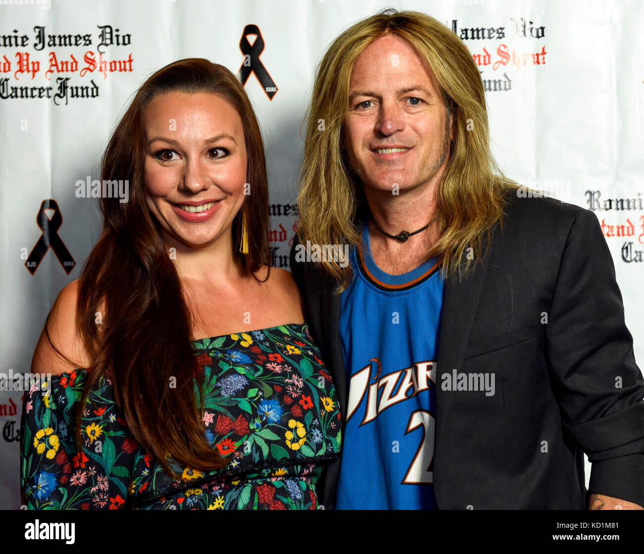 Studio City, CA, October 6, 2017 - Doug & Daniela Aldrich at Bowl 4 Ronnie to bennefit the Ronnie James Dio - Stock Image