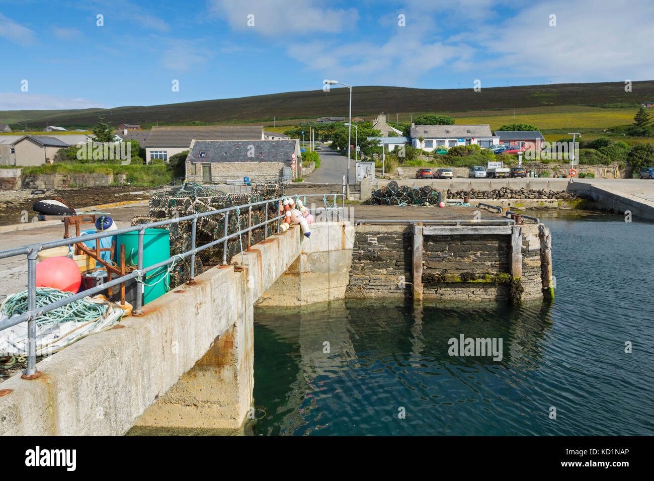 The jetty on the island of Rousay, Orkney Islands, Scotland, UK. - Stock Image
