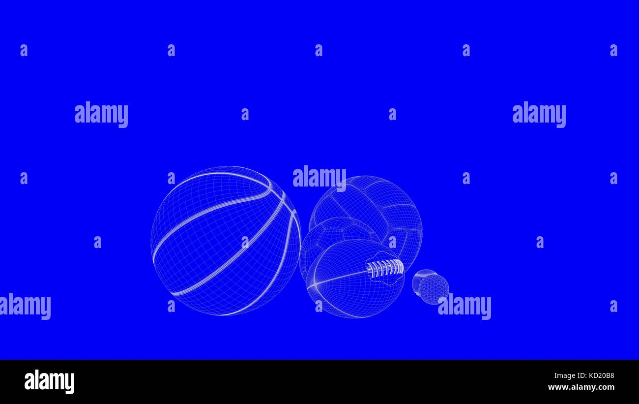 3d rendering of a blueprint balls in white lines on a blue 3d rendering of a blueprint balls in white lines on a blue background malvernweather Gallery