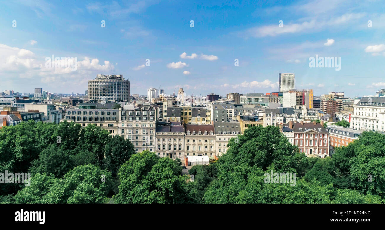 Aerial view of central London from Holborn - Stock Image