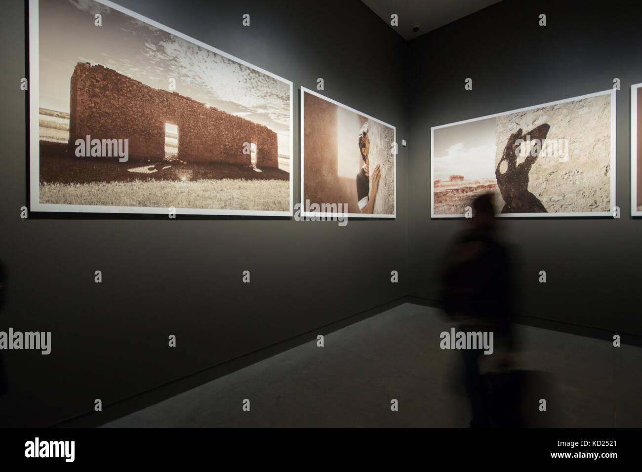 "Tracey Moffatt - photographs from the series ""Body Remembers"", My Horizon exhibition | Australian Pavilion, 57th Stock Photo"
