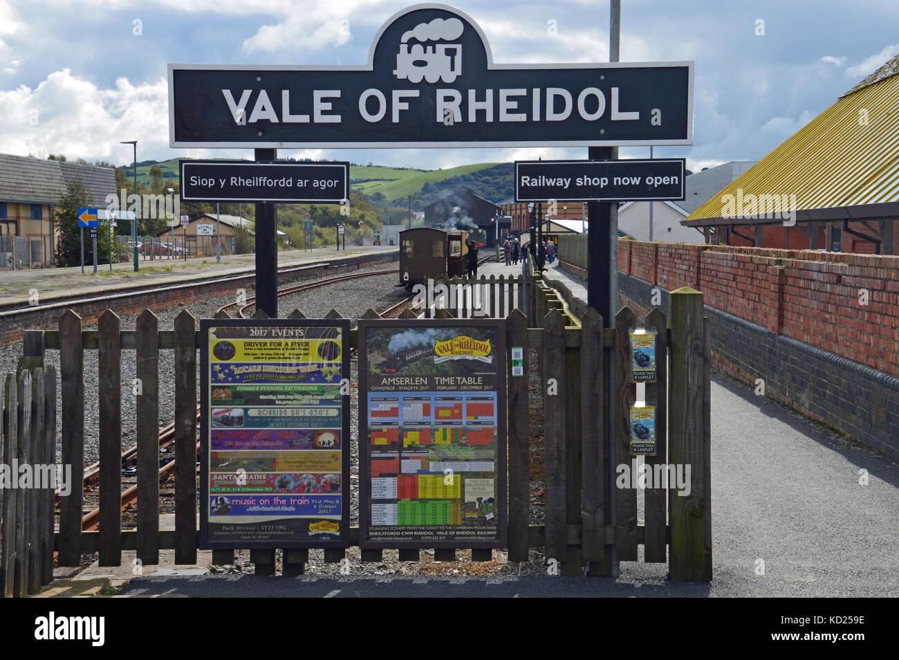 Vale of Rheidol Railway, Abersystwyth, Ceredigion, Wales - Stock Image