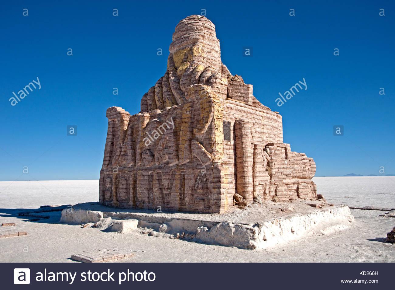 dakar monument, salar de uyuni, bolivia Stock Photo