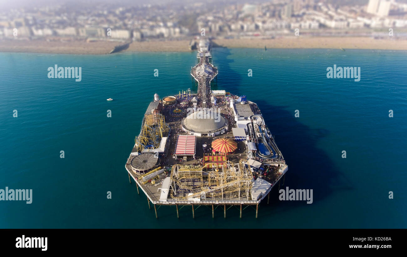 The Brighton pier action park - Stock Image