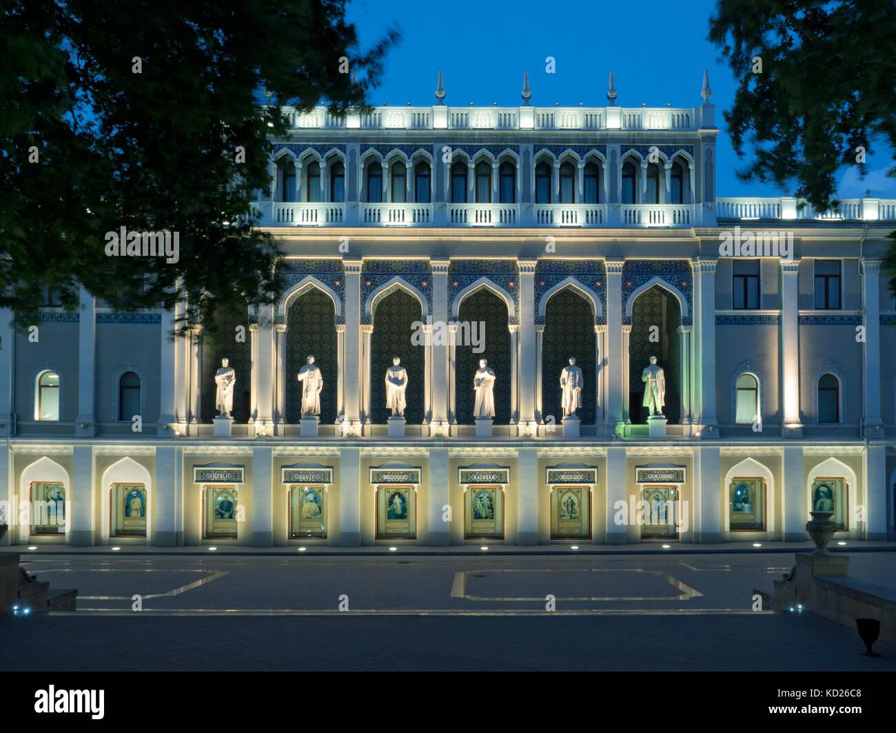 Nizami Museum of Azerbaijani Literature, Baku, Azerbaijan - Stock Image