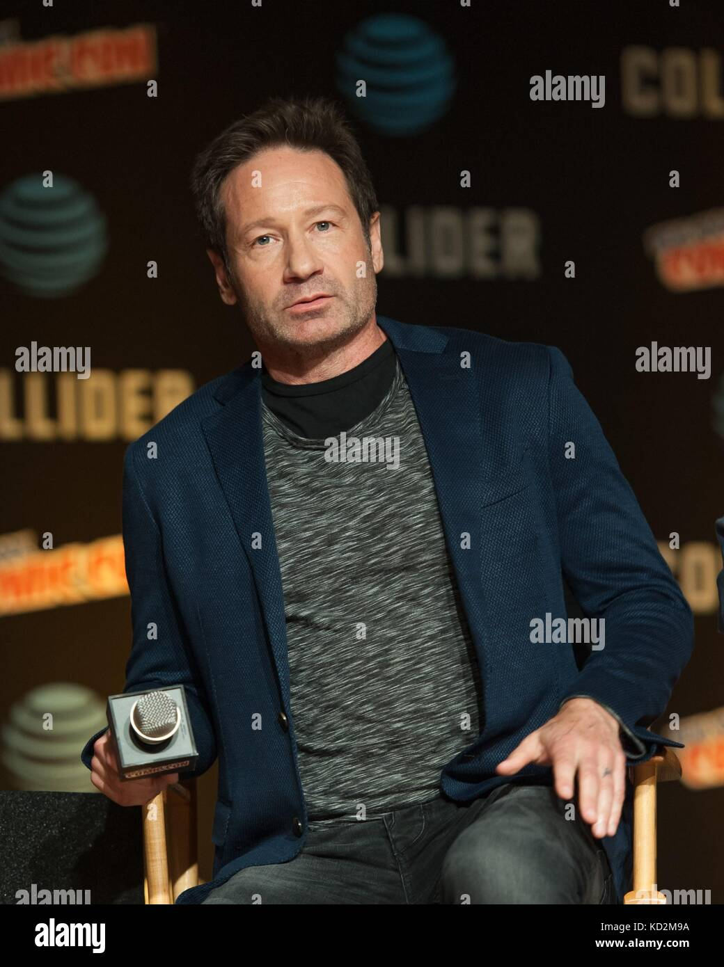 New York, NY, USA. 8th Oct, 2017. David Duchovny, attending The X Files event in attendance for New York Comic Con - Stock Image