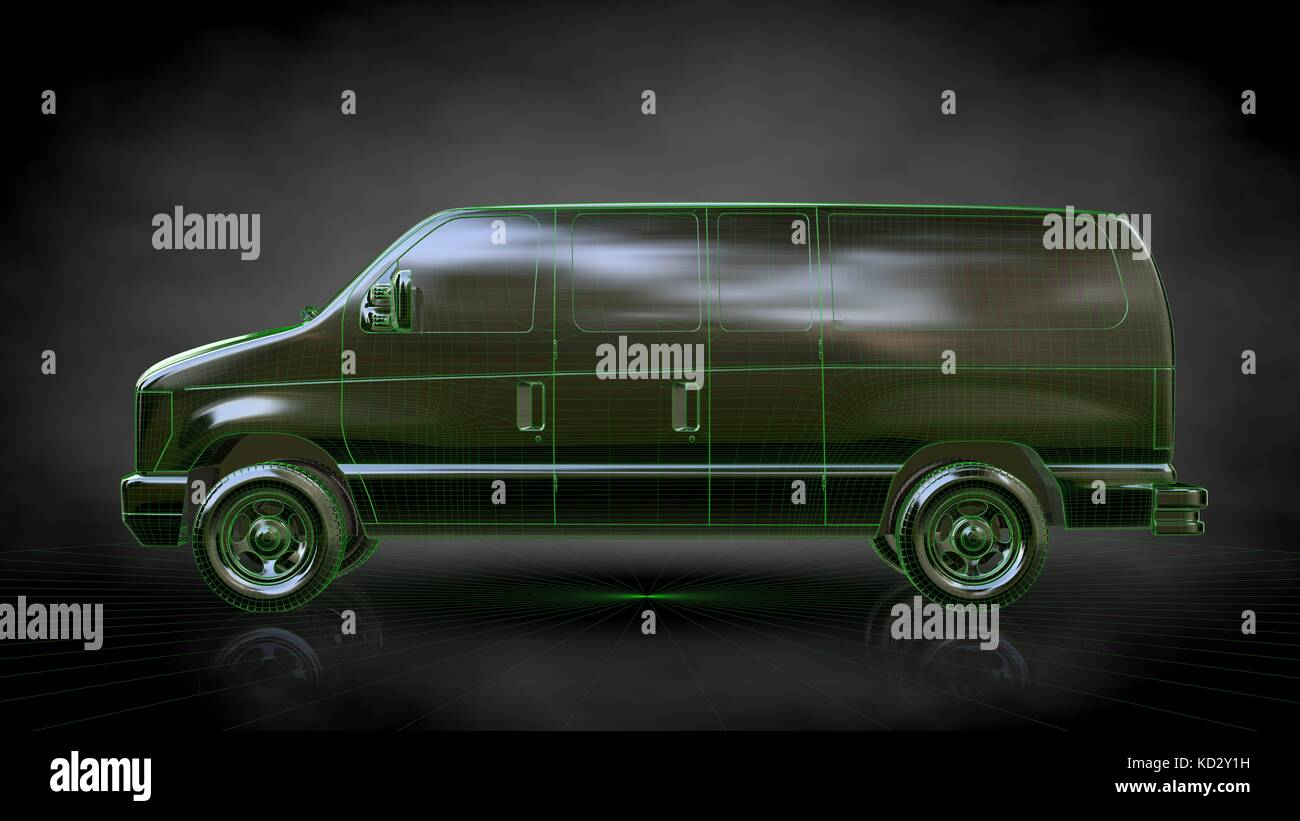 Lines car render on stock photos lines car render on stock images 3d rendering of a reflective car with green outlined lines as blueprint on dark background malvernweather Gallery