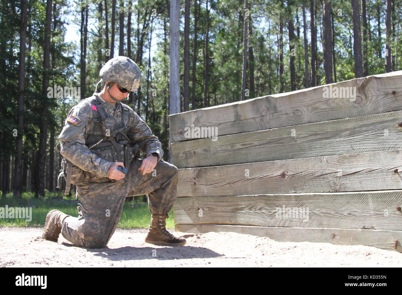 U S  Army Sgt  Trey Watford, a squad leader for Co  B, 1-118th Stock