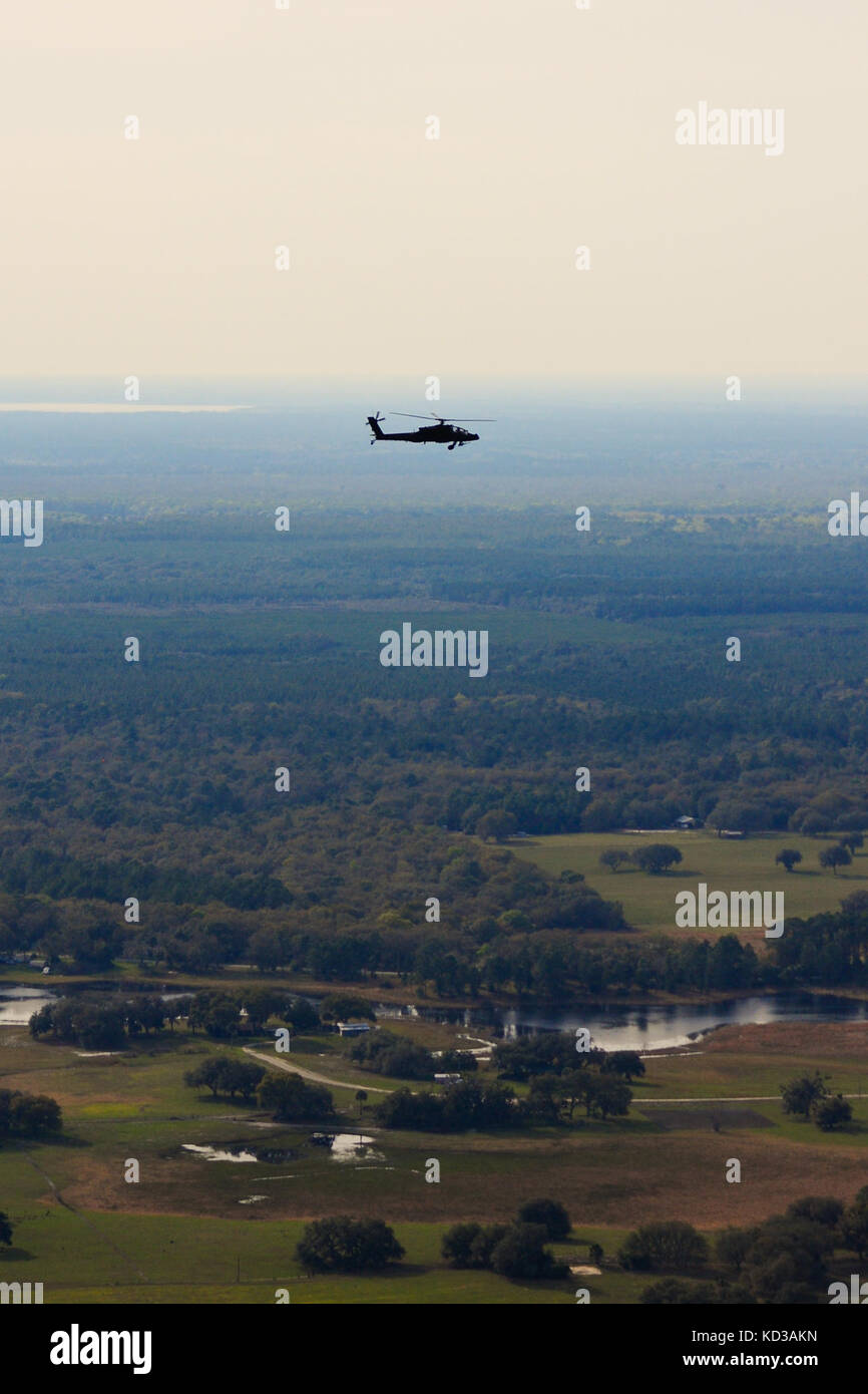 U.S. Army AH-64D Apache assigned to the 151 Attack Reconnaissance Battalion, South Carolina Army National Guard, Stock Photo