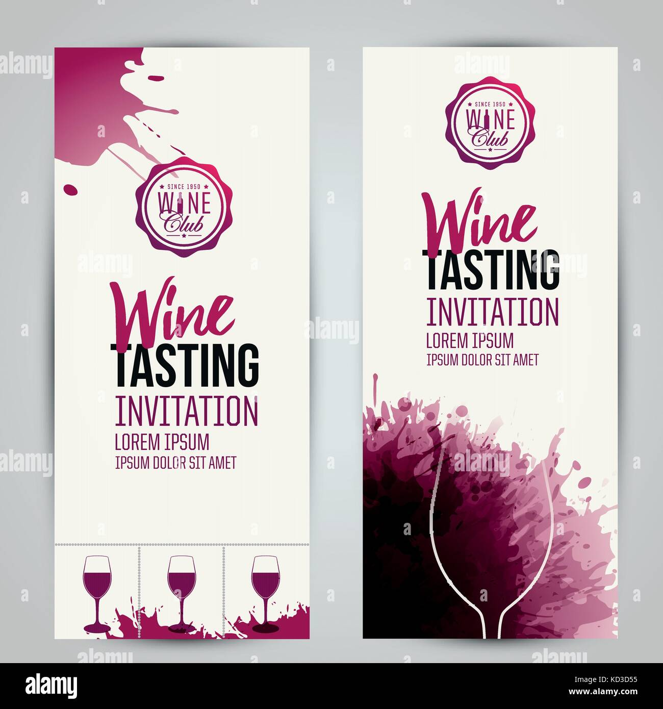 Design Of Invitation Ticket Or Banner For Your Wine Events Stock Vector Image Art Alamy