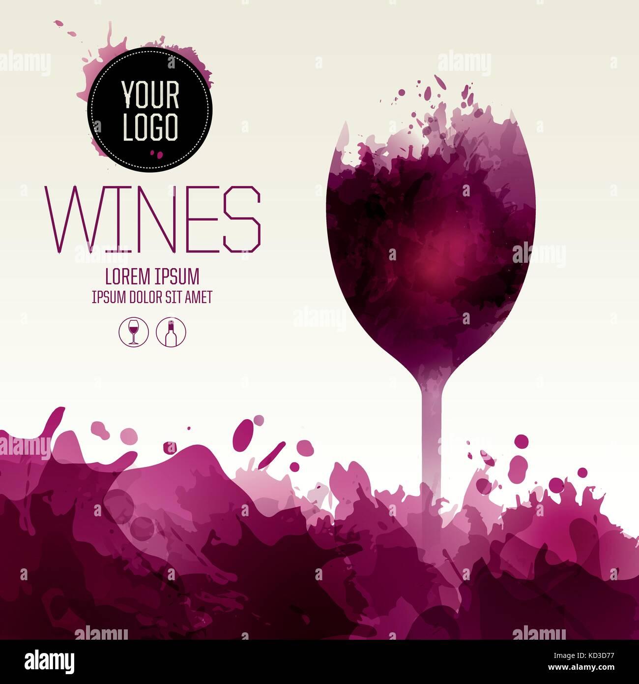 Template Design Suitable For Wine List Wine Tasting Invitation Or