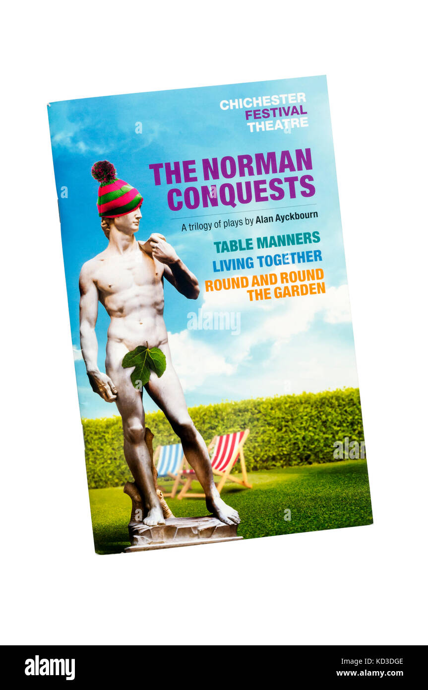 Programme for 2017 production of The Norman Conquests by Alan Ayckbourn at the Chichester Festival Theatre. - Stock Image