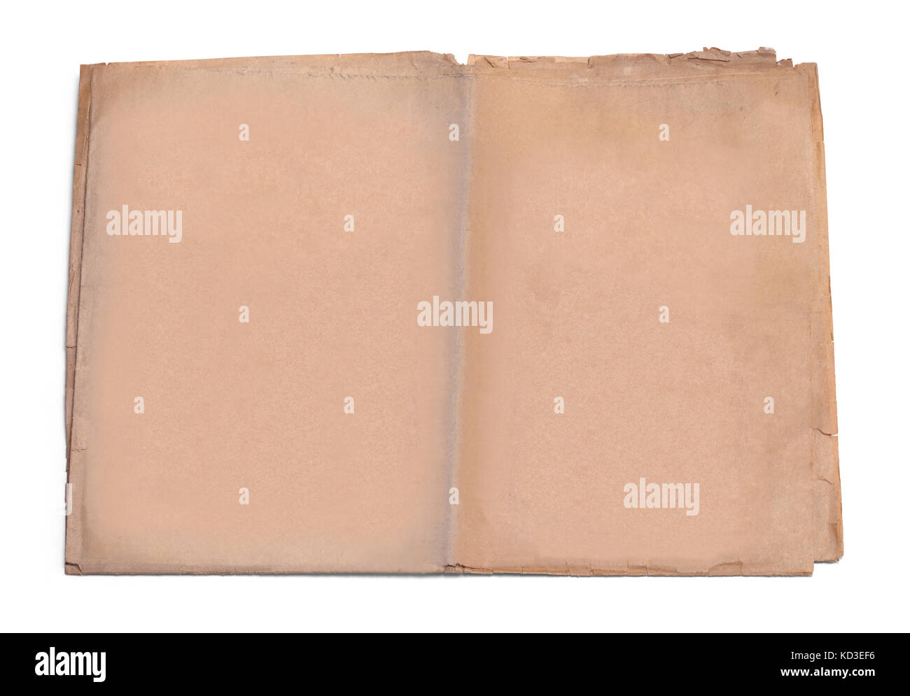 Old Newspaper With Copy Space Isolated On White Background